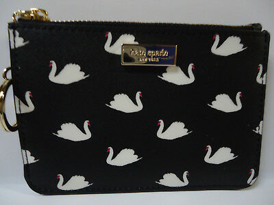 NWT Kate Spade BITSY Liberty Street small swans card case / wallet with ring f3