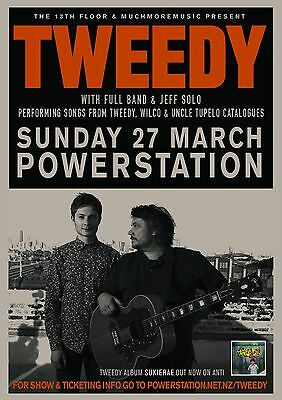 TWEEDY 2015 NEW ZEALAND CONCERT TOUR POSTER - Wilco-Alt/Indie/Expermental Rock
