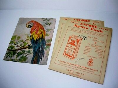 2 Antique Wise Polly Encore Root Beer Parrot Puzzle From Wyoming Pa