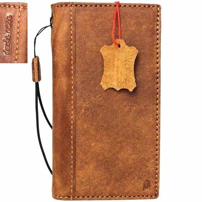 genuine real leather Case for apple iphone 8 book wallet cover slim cards slots