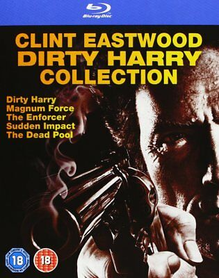 Dirty Harry Collection Clint Eastwood 5 Movies Box Set Blu Ray Brand New [1971]