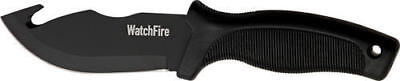 210922 WatchFire Guthook Skinner Black Handle Fixed Blade Knife