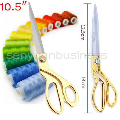 """10.5""""Stainless Steel Tailoring Scissors  Dressmaking Shears Fabric Craft Cutting"""