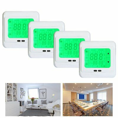 4x digital touch raumthermostat temperaturregler. Black Bedroom Furniture Sets. Home Design Ideas