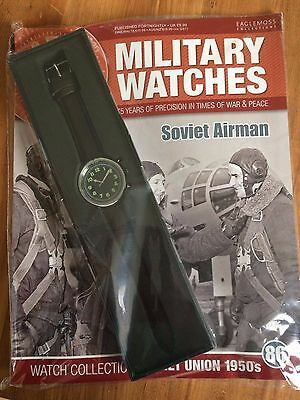 Eaglemoss Military Watch Collection * SOVIET AIRMAN ISSUE 86 * New With Magazine