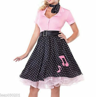 LADIES 50'S ROCK 'N' Roll Costume Adults 1950s Poodle Womens