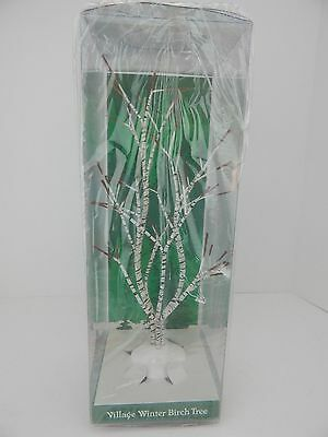Dept 56 Village Winter Birch Tree #52167 D56 New in Plastic Pkg 13 Inches Tall