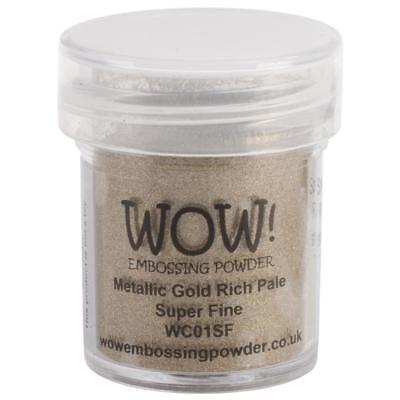 WOW Embossing Powder - METALLIC GOLD RICH PALE - SUPER FINE