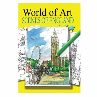 World Of Art - Scenes of England  Colouring Book Adults