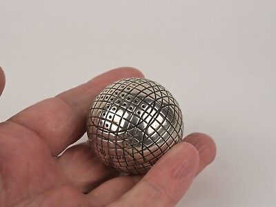 A Scarce Hallmarked Silver Novelty 'Golf Ball' Pepper Pot - Sheffield 1912.