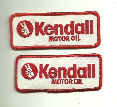 Lot of 2 Vintage Kendall Motor Oil Cloth Patches