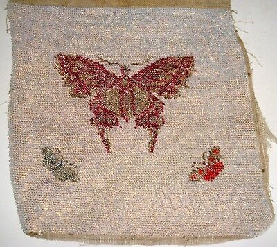 Antique Bead Work With Butterflies