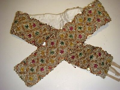 Pretty Vintage Sequined Belt Very Colorfull