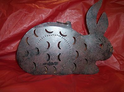 "Metal Rabbit Shape Garden Home Decorative Art Candle Holder Hangs 13"" x 10"" x 2"""