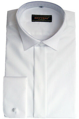 beytnur Tuxedo Shirt, with Caps Collar, White, size 37 - 46
