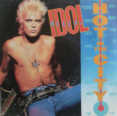 """7"""" 1983 ROCK US-PRESS VG+++! BILLY IDOL Hot In The City"""