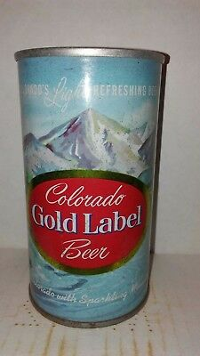 Colorado Gold Label Ss 12 Oz Pull Tab Intact Beer Can - Clean Indoor Can!