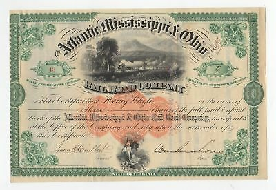 General William Mahone - 1871 Atlantic Mississippi & Ohio Railroad Co. Stock
