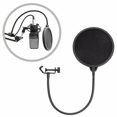 Double Layer Recording Studio Microphone Mic Wind Screen Pop Filter Mask Shield