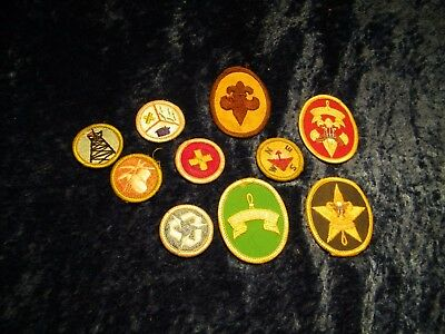 10 vintage BSA patches Boy scouts of America Be prepared first aid NWSE