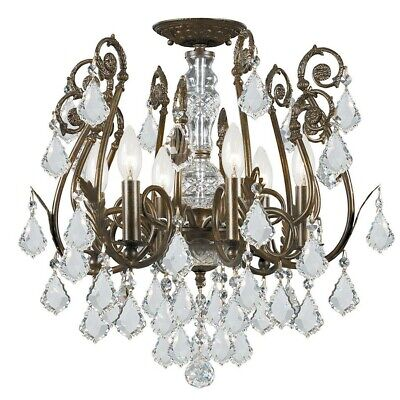 Crystorama Regis 6 Light Clear Hand Cut Crystal Semi-Flush - 5115-EB-CL-MWP