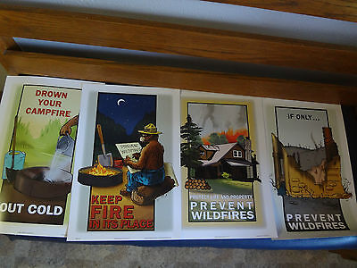 SMOKEY BEAR  FOUR POSTER SET. Complete Series