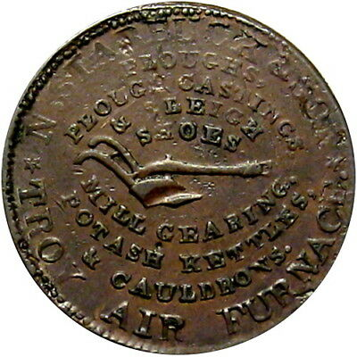 1835 Troy New York Hard Times Token Starbuck & Son Ploughs Plow Low 284 HT-368