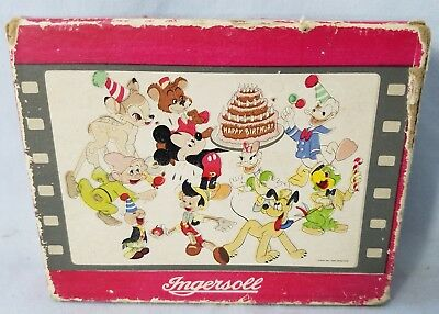 Orig 1948 Birthday Serie Ingersoll US Time Disney Character Wrist Watch Box ONLY