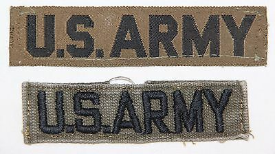 Original Lot Of 2 U.s. Army Uniform Pocket Tape, Patches