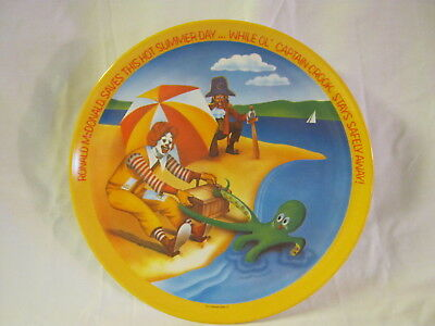 "Ronald McDonald Saves This Hot Summer Day 1977 Platic 10"" Graphic Plate"