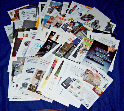 Lot of 124 Assorted CAMERA Ads ~ 1930-1986 ~ Kodak, Canon, Polaroid, Bolex, etc