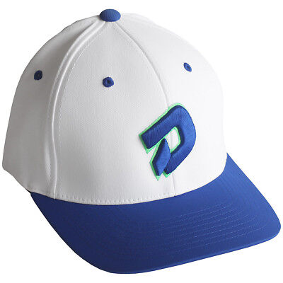 DeMarini D Logo Baseball/Softball Flex-Fit Hat - White/Royal - L/XL