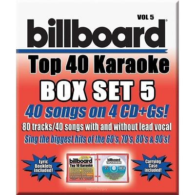 Party Tyme Karaoke: Billboard Top 40 Karaoke, Vol. 5 [Box] (CD Oct-2016 4 Discs)