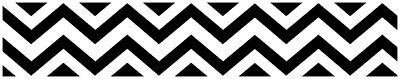 Sweet Jojo Black White Chevron Kids Wall Paper Border Zig Zag Room Wallcoverings