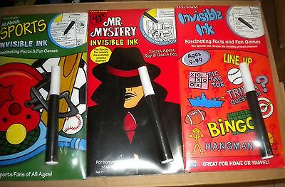 WHOLESALE CASE (12) YES & KNOW INVISIBLE INK Facts and Fun Home or Travel Games