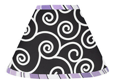 Sweet Jojo Designs Lamp Shade for Purple Black Kaylee Baby Kid Teen Bedding Set