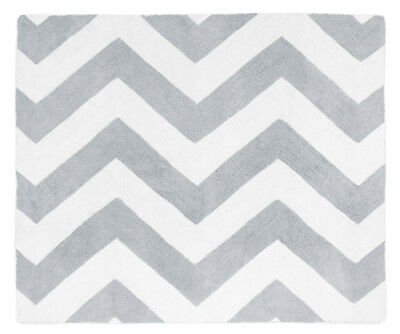 Sweet Jojo Designs Baby Kid Floor Rug For Gray White Chevron Zigzag Bedding Set