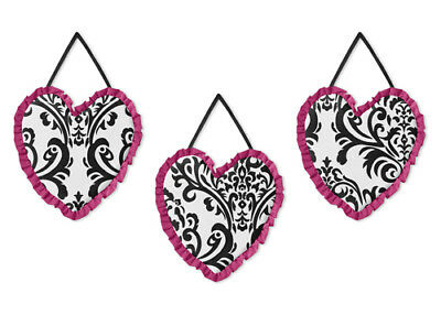 Wall Art Decor Hanging Sweet Jojo for Pink Black Isabella Baby Kids Bedding Set