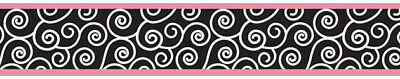 Sweet Jojo Designs Pink Black Madison Baby Kids Wall Paper Border Wallcovering