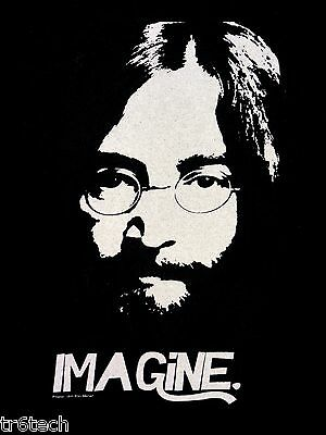 John Lennon Shirt  Imagine T Black Medium 2010 Yoko Ono