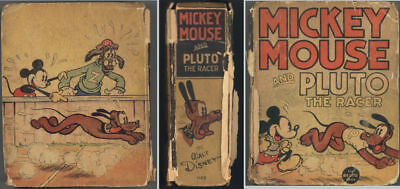 MICKEY MOUSE AND PLUTO THE RACER. 1936 Big Little Book with 200+ illustrations
