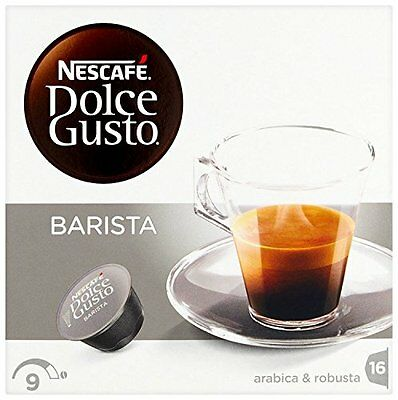 Nescafe Dolce Gusto Barista Coffee pods (Pack of 3, Total 48 Capsules, 48 serves
