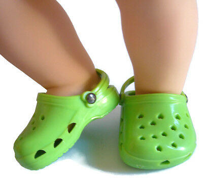 Lime Green Kroc Krocs Clog Summer Shoes For Bitty Baby + Twins Doll Clothes