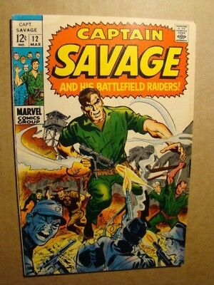 Captain Savage 12 Dick Ayers Marvel Silver Age War 1968 Sgt Fury