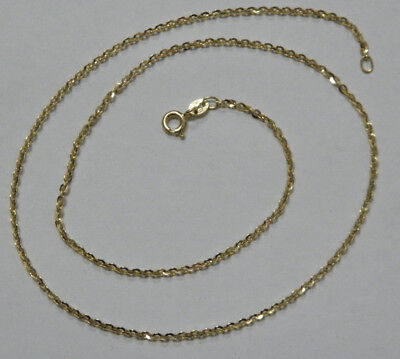 ITALY 9ct/375 YELLOW SOLID GOLD BELCHER STYLE NECKLACE CHAIN  rrp $345.00