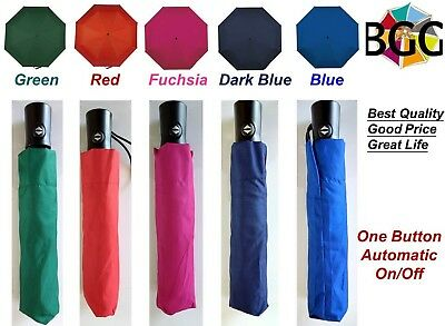 A+ Quality Automatic Open Close Umbrella Compact Folding Rain Windproof Anti UV