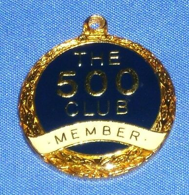 1990's The 500 Club Member Key Ring Medallion 25 mm BRIM Melbourne not used