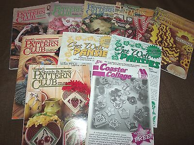 Lot of 10 Issues Annie's Quick & Easy Pattern Club Craft Magazine 1990s #83-105