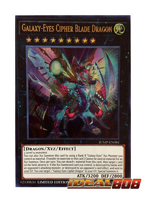YUGIOH x 1 Galaxy-Eyes Cipher Blade Dragon - JUMP-EN081 - Ultra Rare - Limited