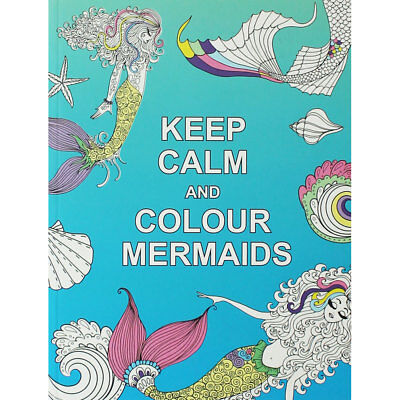 Keep Calm and Colour Mermaids by Summersdale (Paperback), Children's Books, New